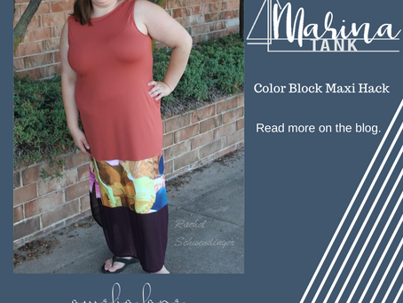 Marina Maxi with Color blocking