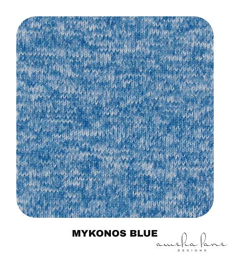 Mykonos Blue - Athletic Brushed Poly - 265GSM - PRE-ORDER
