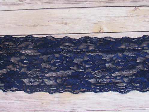 Stretch Lace - Indigo - 5.5""