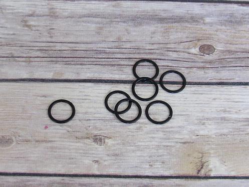 """3/4"""" Metal Coated Bra Rings - Black"""