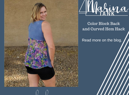 Marina Tank - Mesh Color-blocked Curved Hem Hack