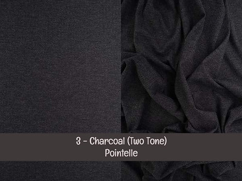 Charcoal - Pointelle - Two-Tone