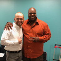 with Vince Wilfork