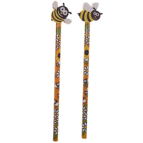 Novelty Kids Bee Design Pencil and Eraser