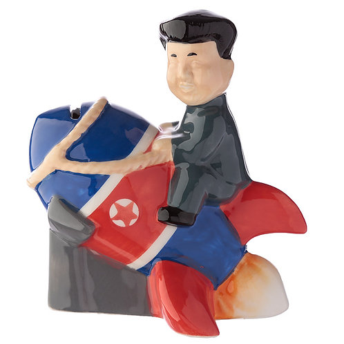 Collectable Ceramic Rocket Man Money Box North Korea