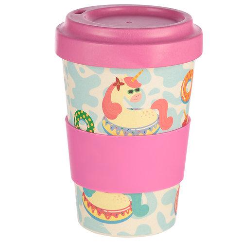 Bambootique Eco Friendly Unicorn Design Travel Cup/Mug