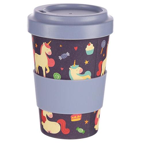 Bambootique Eco Friendly Unicorn Dreams Design Travel Cup/Mug