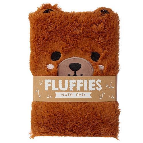 Fluffy Plush Notebook - Cute Bear Design