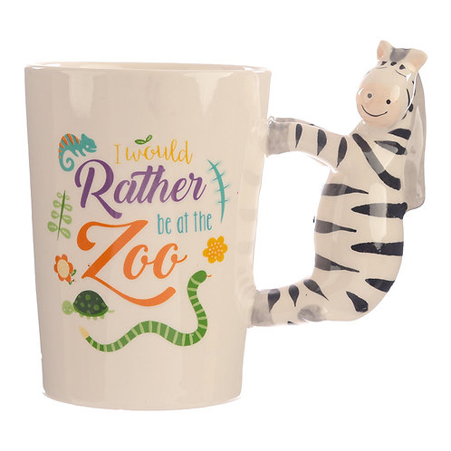 Collectable Shaped Handle Mug - Zebra