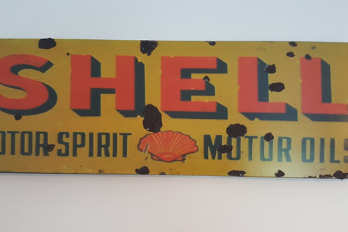 Rusty Metal SHELL Oil Sign Retro Sign
