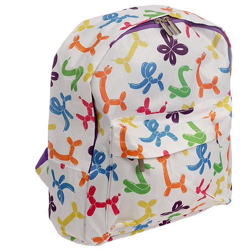 Handy Kids School & Everyday Rucksack - Balloon Animals Design