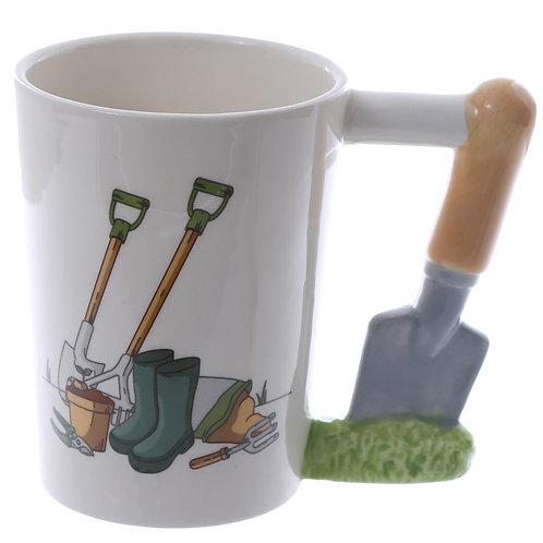 Novelty Ceramic Trowel Shaped Handle Garden Mug