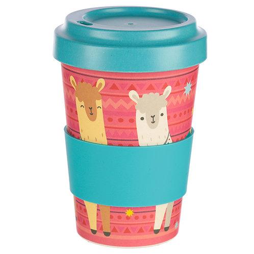 Bambootique Eco Friendly Llama Design Travel Cup/Mug