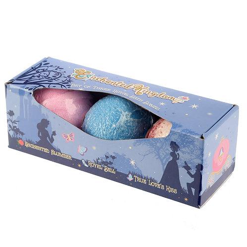 Handmade Bath Bomb Set of 3 - Sweet Princess Fragrance Gift Box