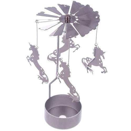 Unicorn Design Metal Tea Light Spinner