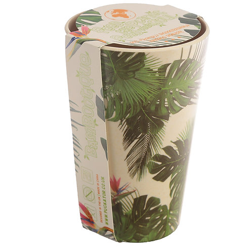 Bambootique Eco Friendly Cheese Plant Design Cup