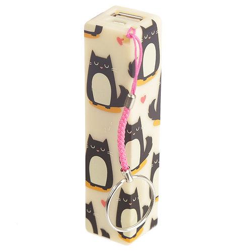 Handy Portable USB Power Bank - Cat Feline Fine Design