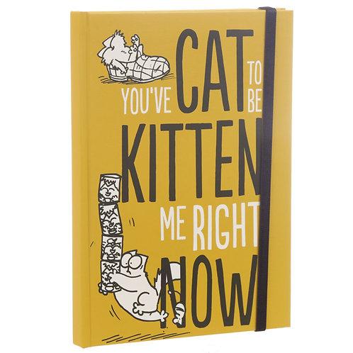 Kitten Slogan Simon's Cat A5 Hardback Notebook