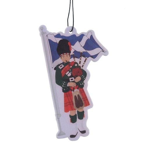 Fun Scottish Piper Design Wild Flower Fragranced Air Freshener