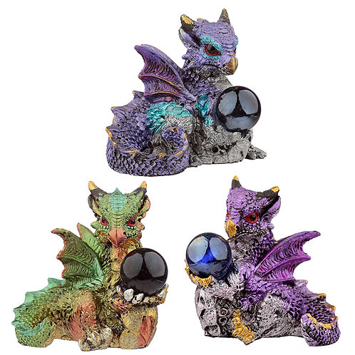 All Seeing Orb Elements Dragon Figurine 5cm high
