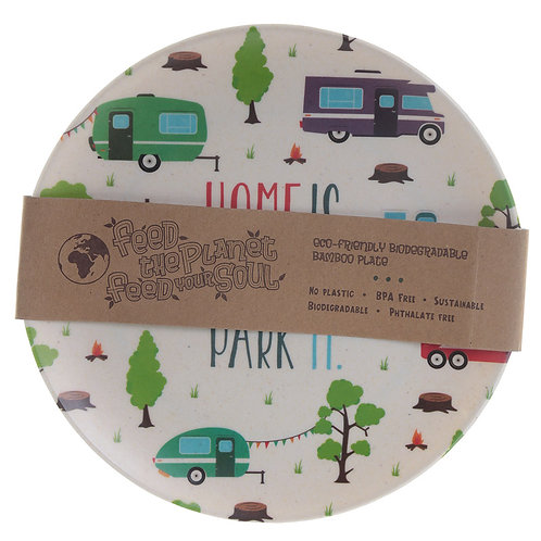 Bambootique Eco Friendly Caravan Design Plate