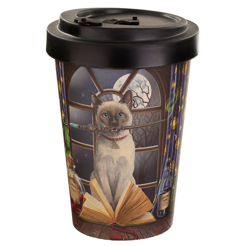 Bambootique Eco Friendly Hocus Pocus Lisa Parker Cat Travel Mug