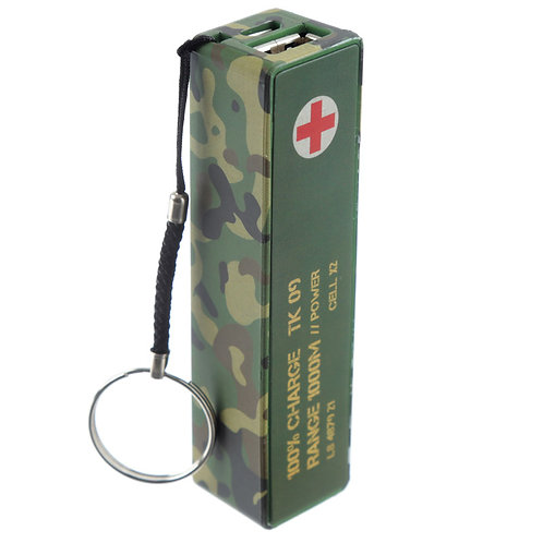 Handy Portable USB Power Bank - Camouflage Design
