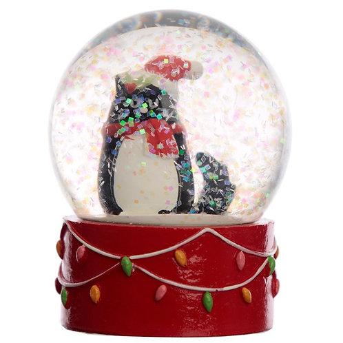 Feline Festive Christmas Cat Waterball Snow Globe