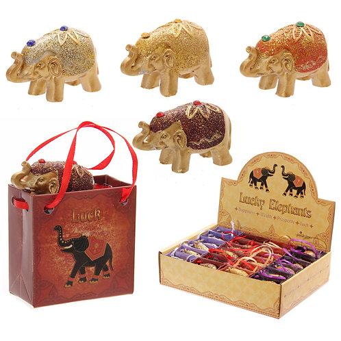 Glitter Elephant in a Mini Gift Bag