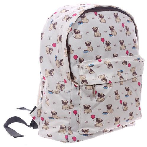 Handy Kids School and Everyday Rucksack - Pug Design