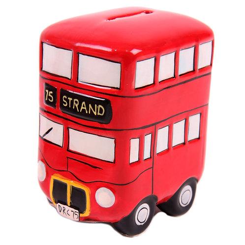 Fun Novelty Ceramic Red Routemaster Bus Money Box