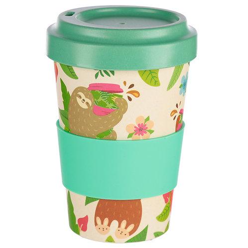 Bambootique Eco Friendly Sloth Design Travel Cup/Mug