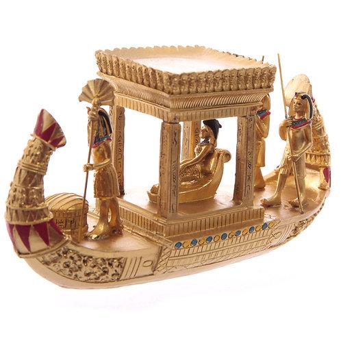 Decorative Gold Egyptian Canopy Boat