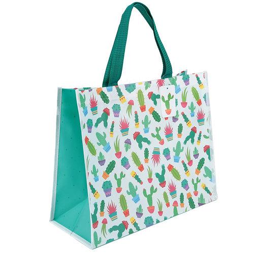 Fun Cactus Design Durable Reusable Shopping Bag