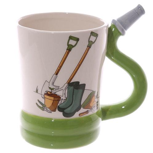 Fun Garden Hose Shaped Handle Ceramic Mug