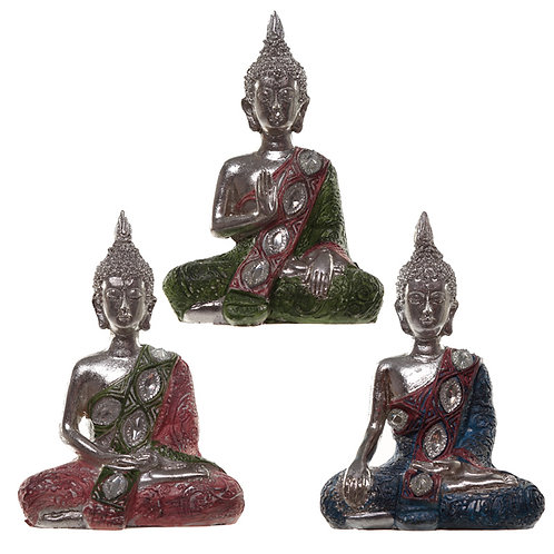 Thai Buddha Figurine - Metallic Lotus