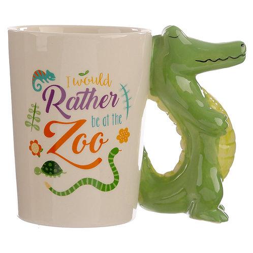 Collectable Shaped Handle Mug - Crocodile