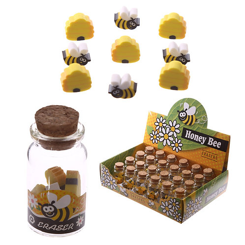 Novelty Kids Bee Design Eraser Set