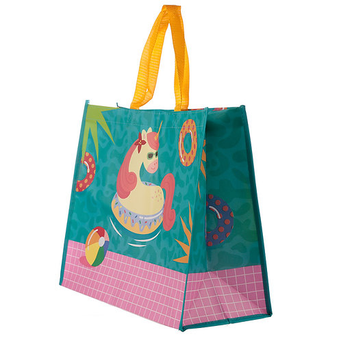 Cute Tropical Unicorn Durable Reusable Shopping Bag