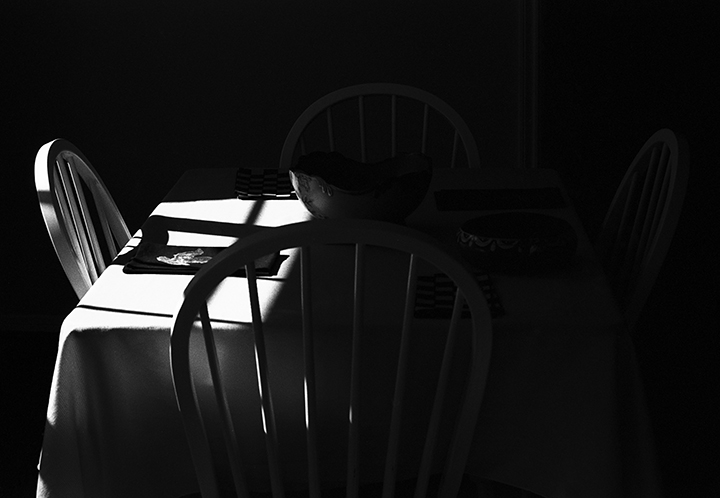 table in shadow