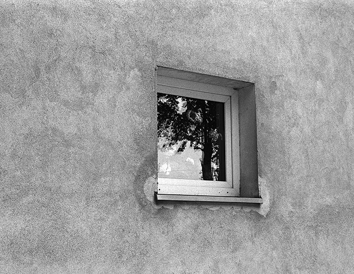 square window reflection
