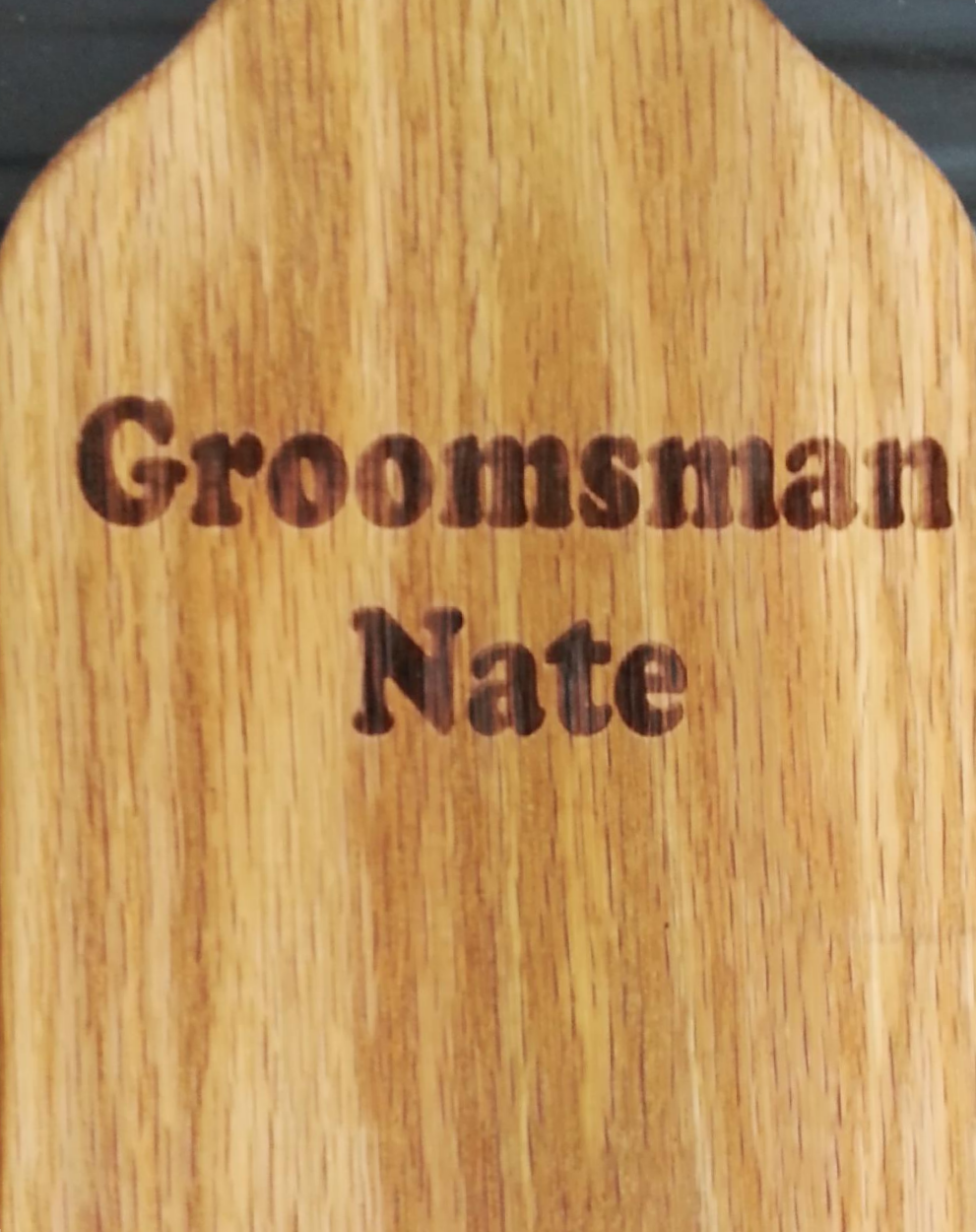 Personalized groomsman example