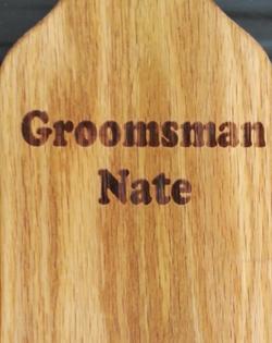 Personalized groomsman example