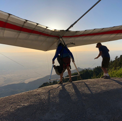 Brian launching the Crest with wireman Mel G.,  a long-time Sandia instructor and guide