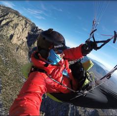 Ben Abruzzo flying the Peak in winter