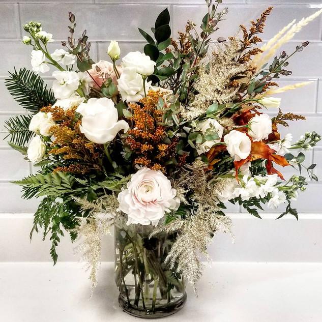 Muted Fall Sympathy Vase