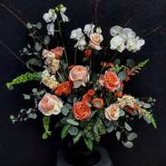 XL sympathy planter with 3 orchid pots