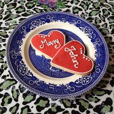 Heart Name Cookies