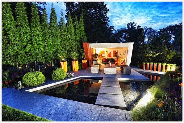 Zen Garden by Night