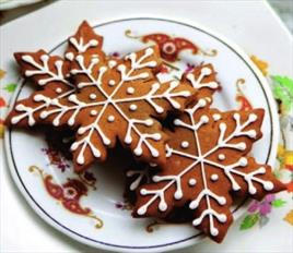 Snow Flake Gingerbread Cookie